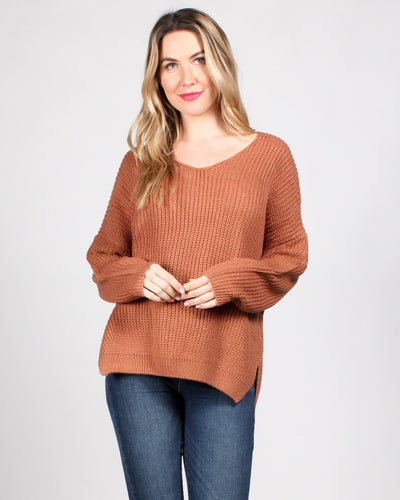 The Skies Are The Limit Knit Sweater Sm / Ginger Tops