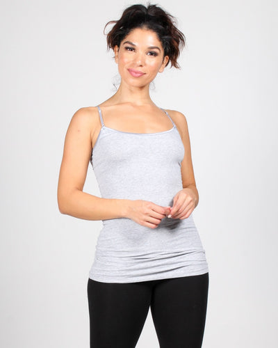 The Slumber Party Tank S / Heather Grey