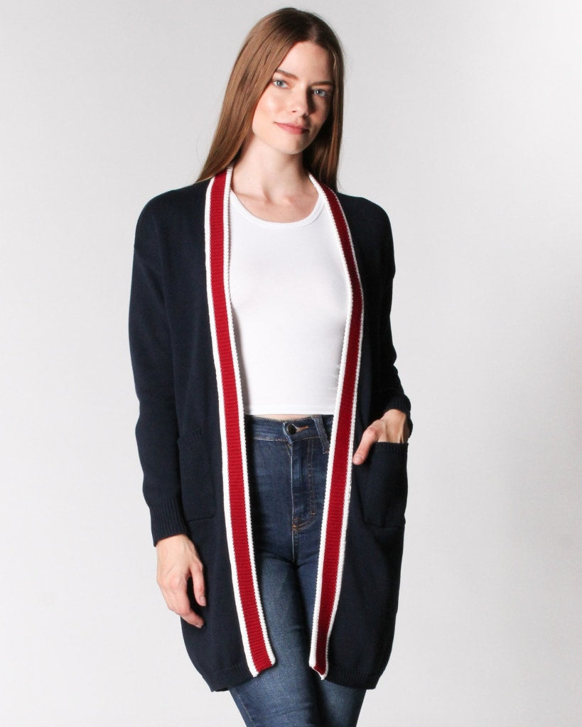 The Standing Ovation Long Cardigan S / Navy Outerwear