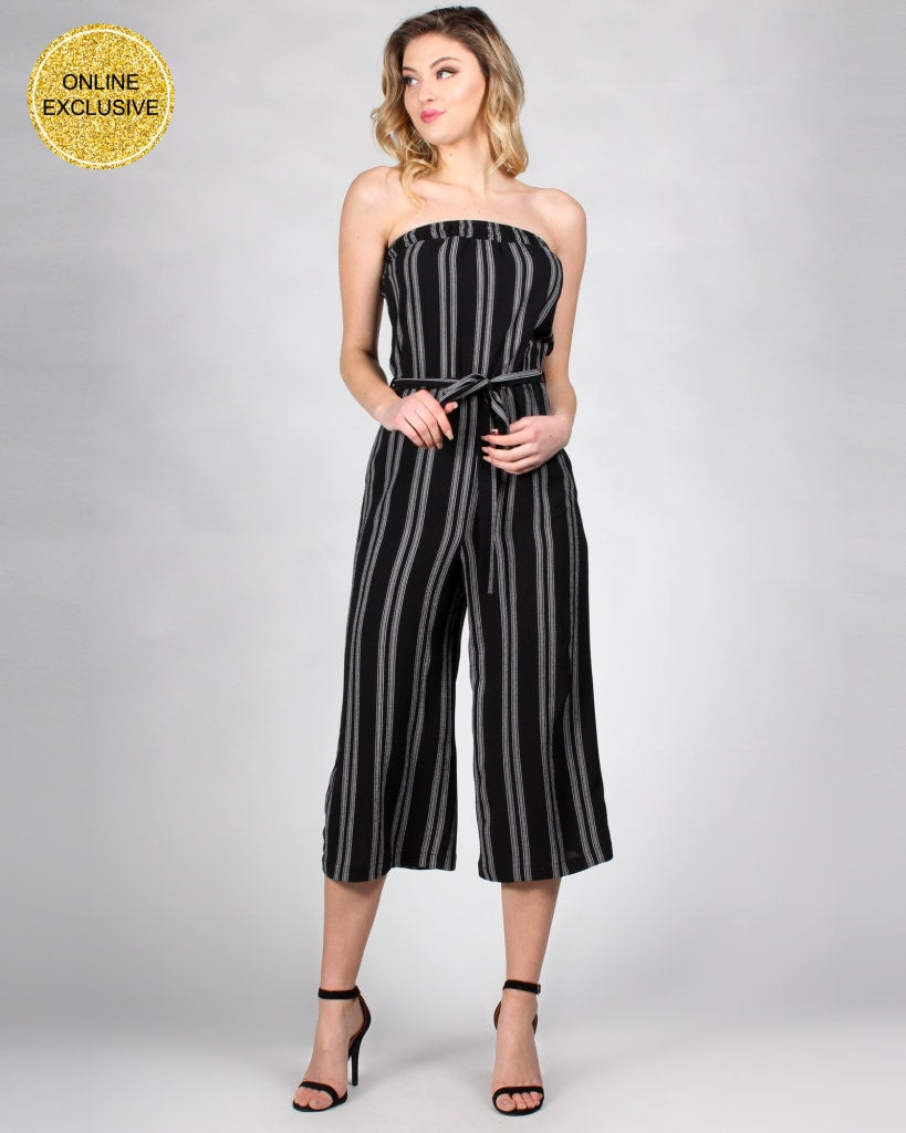 The Striped Zone Jumpsuit S / Black