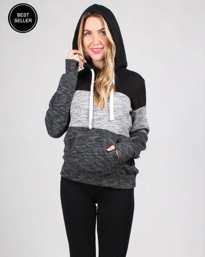 The Triple Threat Hooded Sweater S / Black Tops