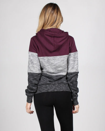The Triple Threat Hooded Sweater Tops