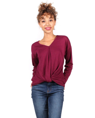 The Twister Revolution Long Sleeve Top S / Burgundy