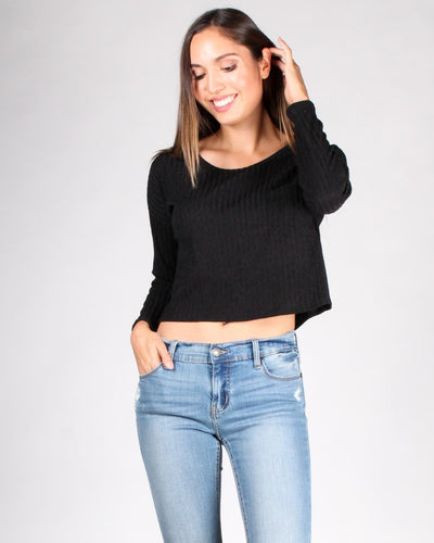 The Unstoppable Long Sleeve Top S / Black