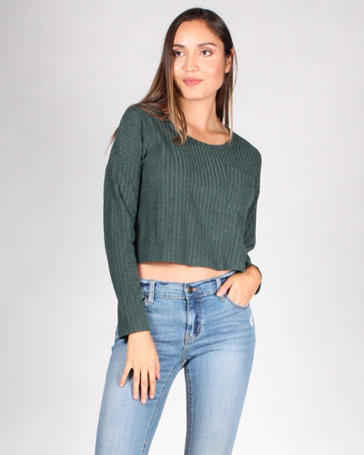 The Unstoppable Long Sleeve Top S / Hunter Green