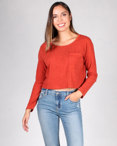 The Unstoppable Long Sleeve Top S / Orange