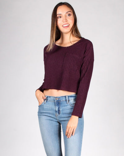 The Unstoppable Long Sleeve Top S / Plum