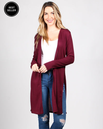 The Verve Of Life Cardigan Burgundy / S Outerwear
