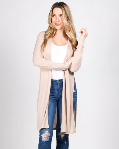 The Verve Of Life Cardigan S / Taupe Outerwear