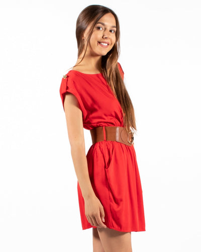 The Writers Block Dress S / Red