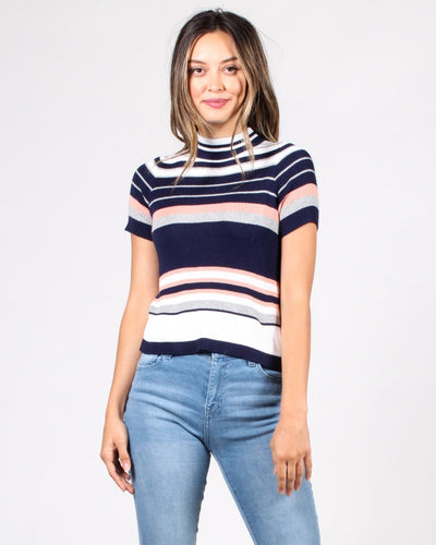 The You Cant Stripe This Striped Top S / Navy Multi