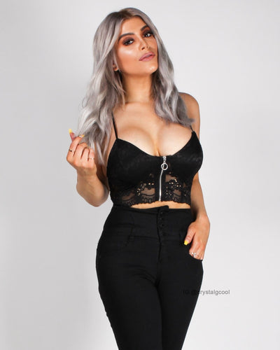 Think Lacely Thoughts Bralette Black / S Tops