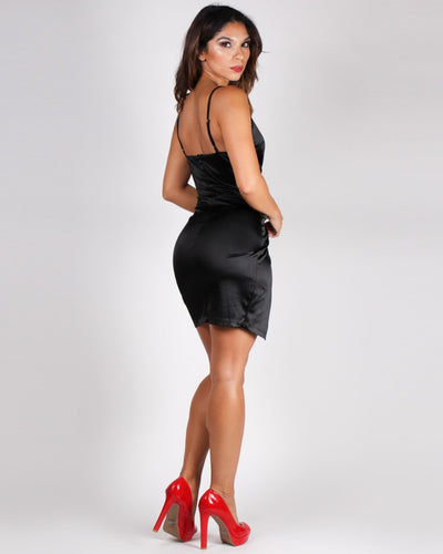 This Is Just The Beginning Bodycon Dress (Black) Dresses