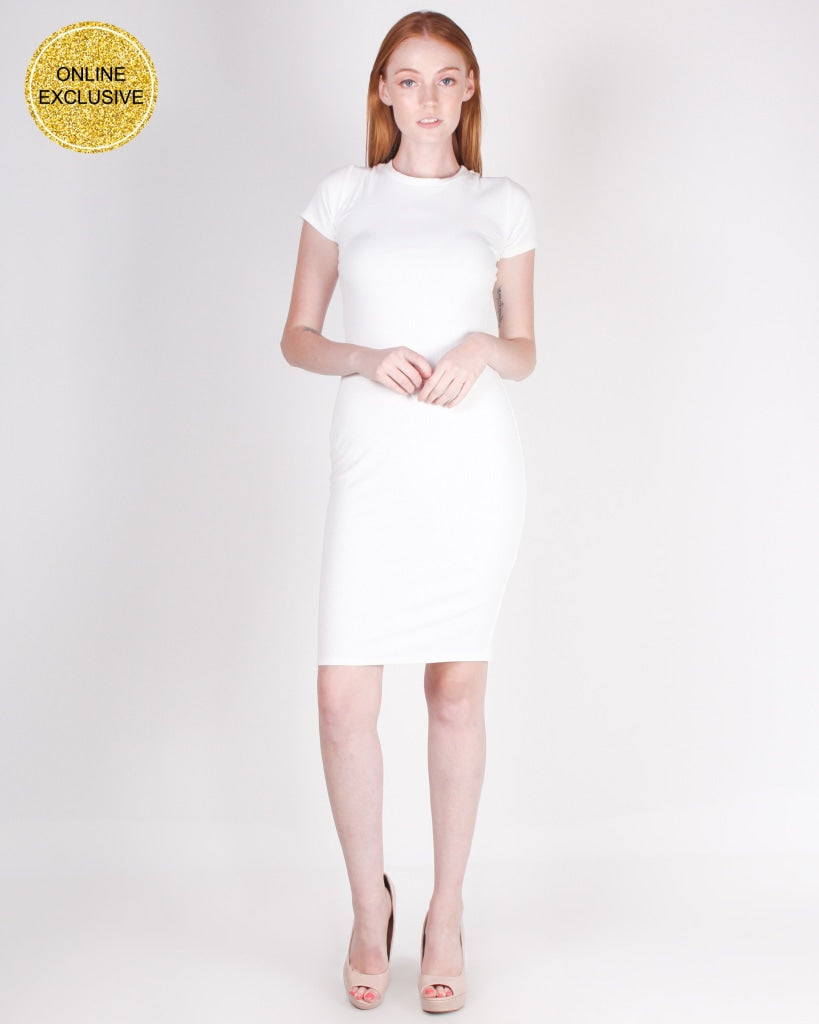 Thrill Seekers Bodycon Dress (White) White / S Dresses