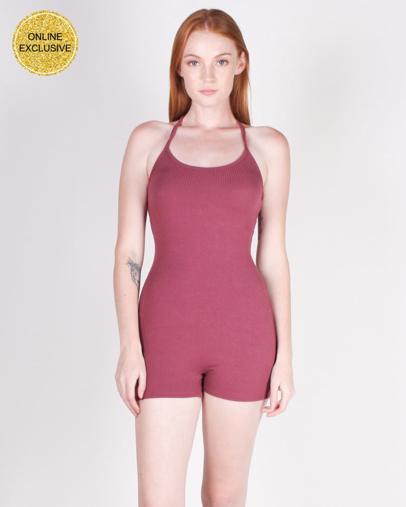 Til We Meet Again Romper (Mauve) Mauve / S