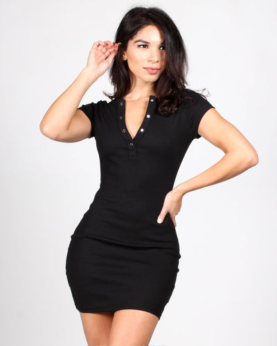 Tipping The Scales Bodycon Dress S / Black Dresses