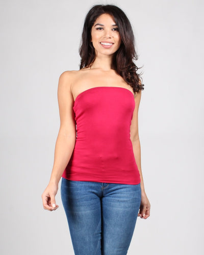Tlc Tube Top S / Red Tops