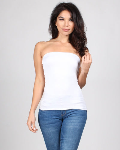 Tlc Tube Top S / White Tops