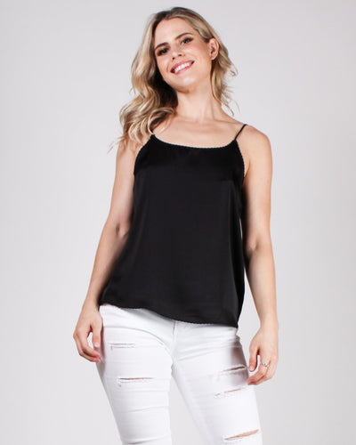 Totally Obsessed Cami Blouse Black / S Tops