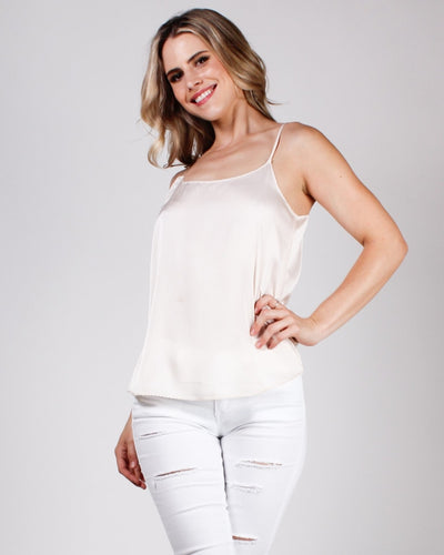 Totally Obsessed Cami Blouse Champagne / S Tops