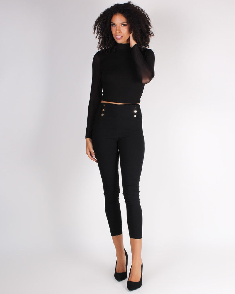 Unstoppable Force Ponte Pants (Black) Black / S Bottoms