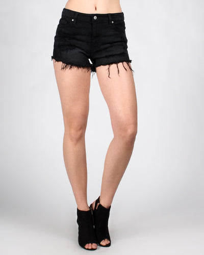 Up For An Adventure Shortie Shorts Xs / Black Bottoms