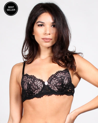 Vip Pass Lace Bra 32B / Black Intimates