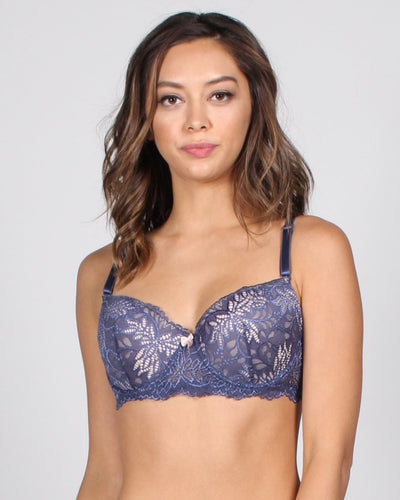 Vip Pass Lace Bra 32B / Dusty Blue Intimates