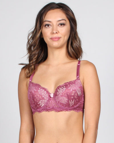 Vip Pass Lace Bra 32B / Rouge Pink Intimates