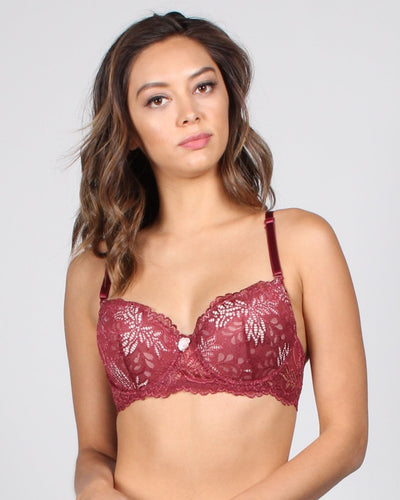 Vip Pass Lace Bra 32B / Wine Intimates