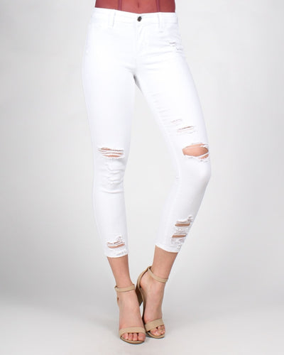 Walk This Way Skinny Jeans 0 / White Bottoms