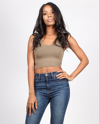 We Rise Crop Halter Top Army / S Tops