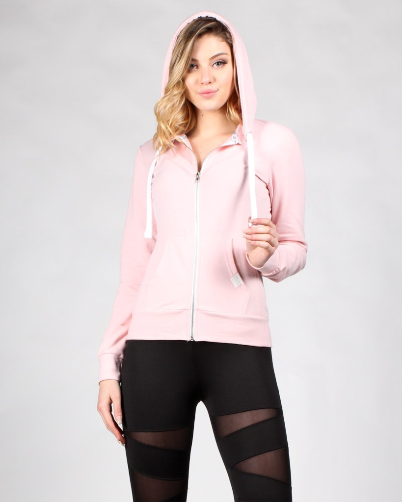 What Will Be Zip Up Hoodie S / Blush Outerwear