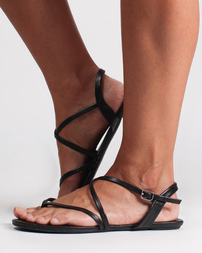 When In Rome Sandals Black / 5 1/2 Shoes