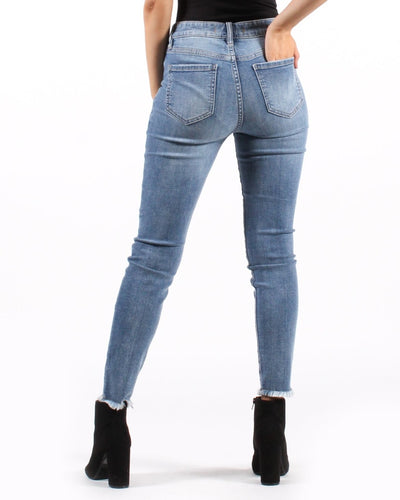 Where Are You Going To Go High Rise Distressed Skinny Jeans