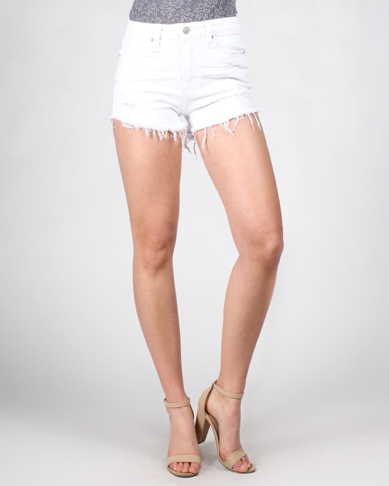 White Out Denim Shorts Bottoms