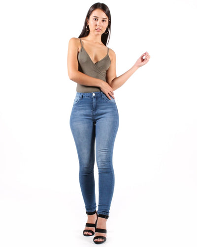 Wont Change Your Mind High Rise Skinny Jean 1 / Medium