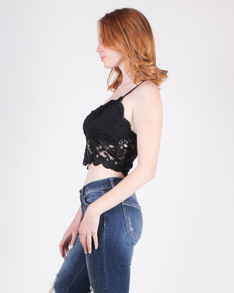 You Are Exhilaratingly Intoxicating Lace Crop Top (Black) / S Outerwear
