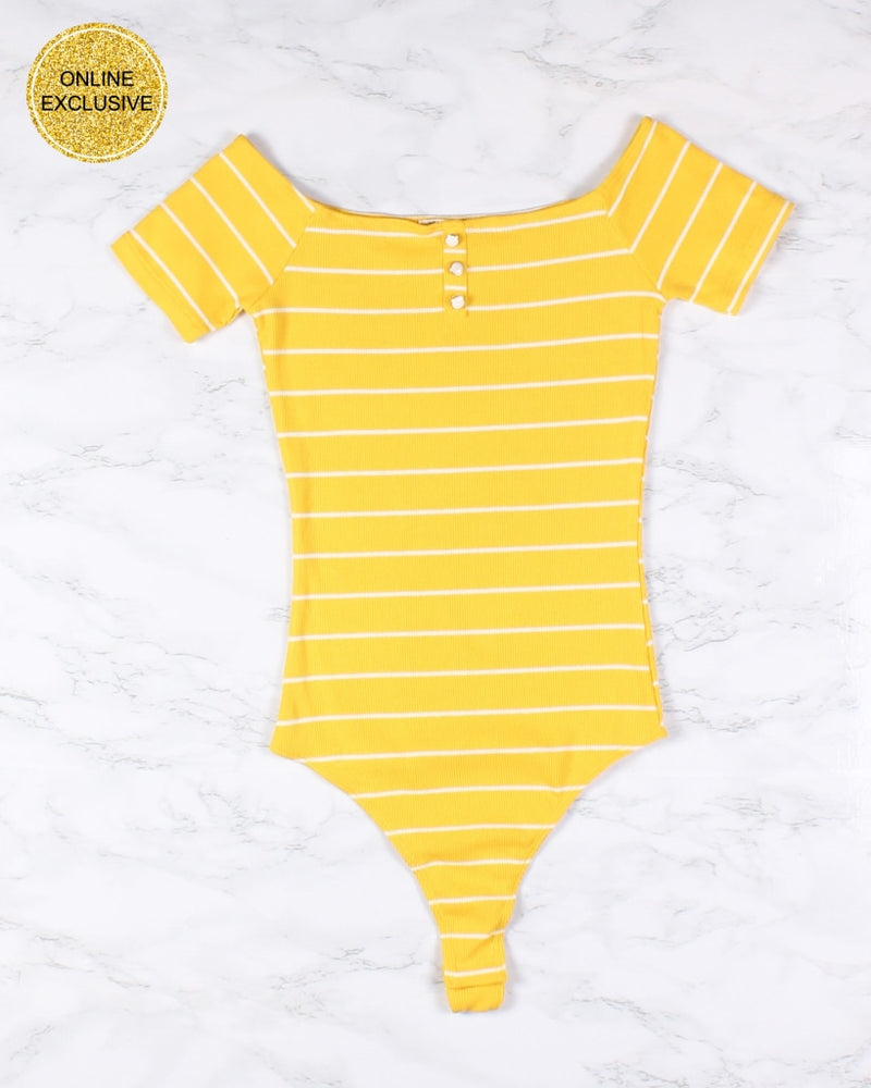 You Got A Body And Youre Naughty Striped Bodysuit (Daisy) Daisy / S Bodysuits