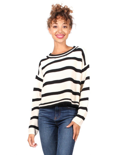 You Got Striped Sweater S / Cream And Black