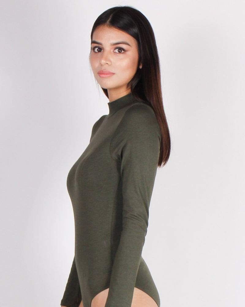Your Light Never Goes Out Bodysuit (Olive) Olive / S
