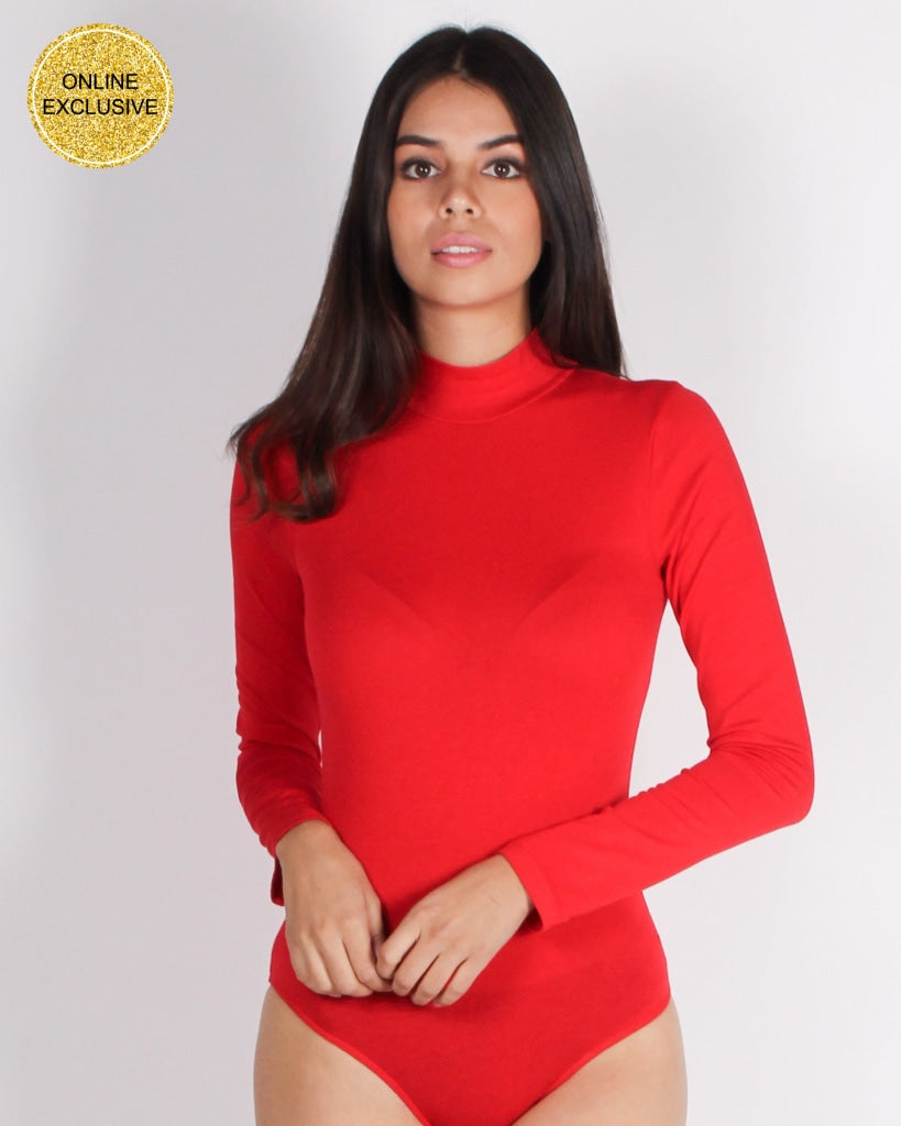 Your Light Never Goes Out Bodysuit (Red) Red / S