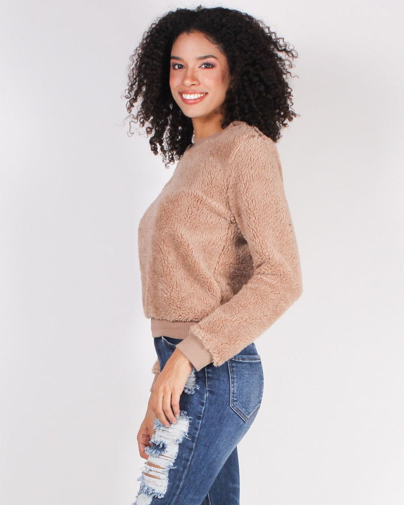 Youre Never Too Old Fur A Teddy Bear Sweater (Mocha) Mocha / S Tops