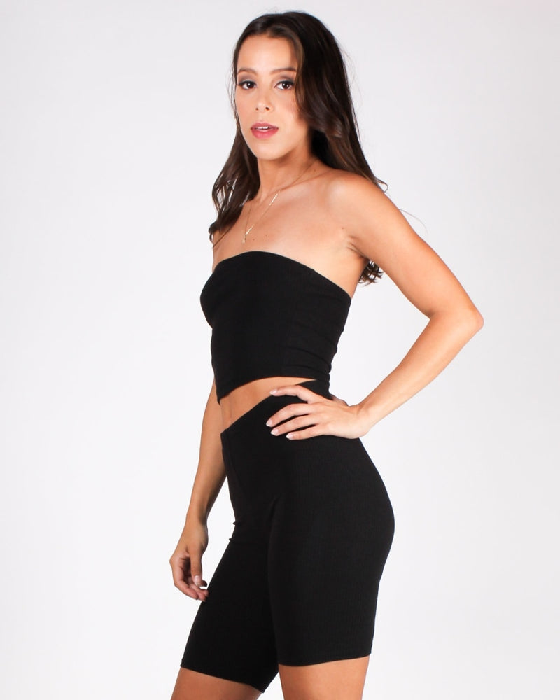 Youve Got This Vibes Tube Top (Black) Black / S Tops