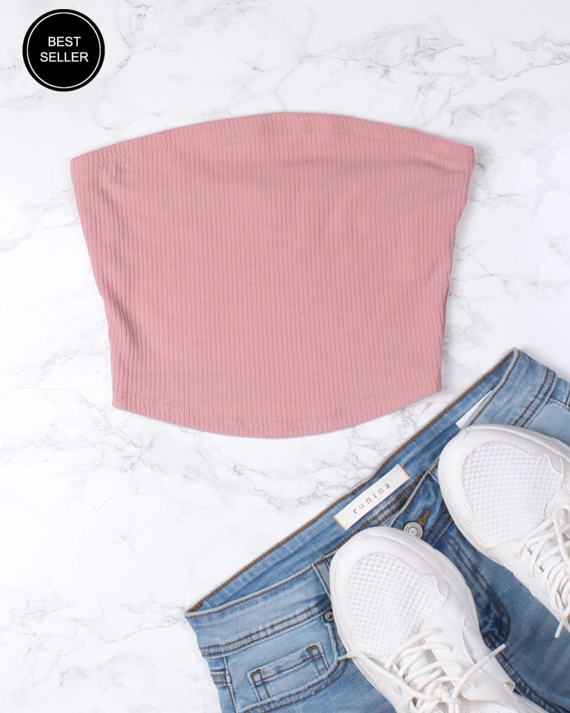 Youve Got This Vibes Tube Top Deco Rose / S Tops