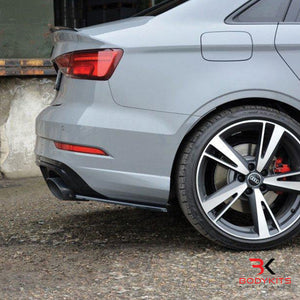 REAR SIDE SPLITTERS AUDI RS3 8V FACELIFT SEDAN (2017+)