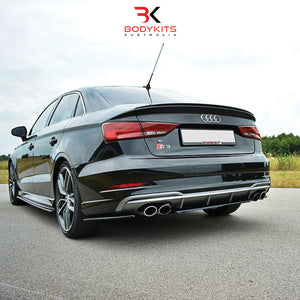 CENTRAL REAR SPLITTERS AUDI S3 8V FACELIFT (2017-2019)