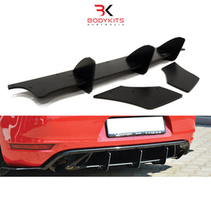REAR DIFFUSER & REAR SIDE SPLITTERS VW GOLF MK6 GTI (2008-2012)