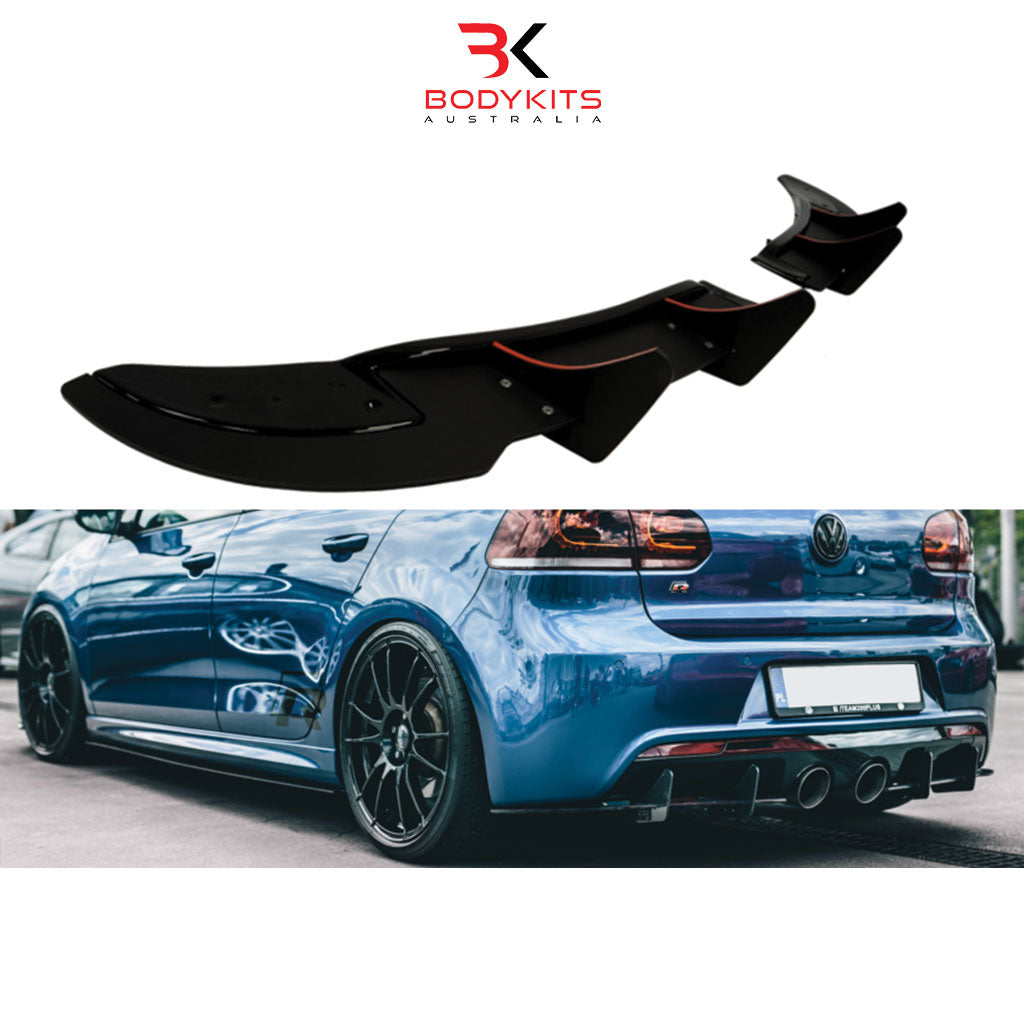 REAR DIFFUSER VW GOLF MK6 R (2008-2012)