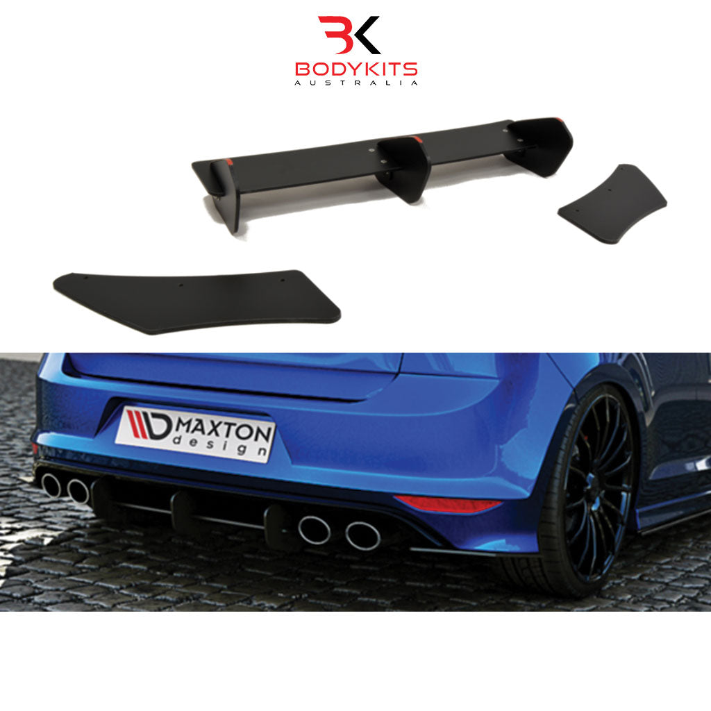REAR DIFFUSER AND REAR SIDE SPLITTERS VW GOLF MK7 R PRE-FACELIFT (2013-2017)